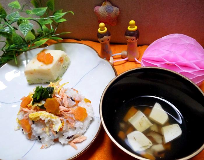 「【離乳食を楽しもう!】赤ちゃんと一緒に!ひなまつり離乳食レシピ3品|mamae(ママエ)」のアイキャッチ画像