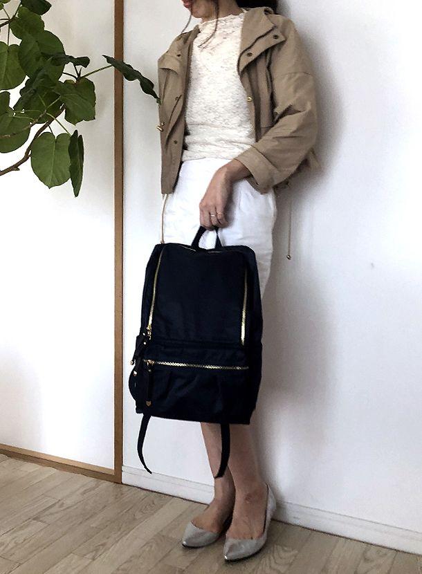 【54%OFF】【マザーズバッグ】光沢ポリエステル ラウンドファスナーリュック